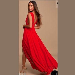 Lulu's Heavenly Hues Red Maxi Dress NWT ♥️